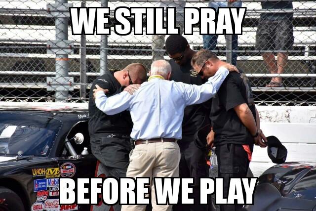 racing -pray before we play