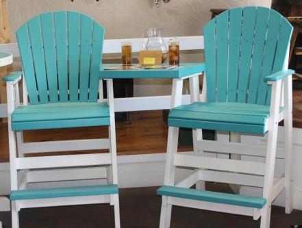 polywood bar chairs - table
