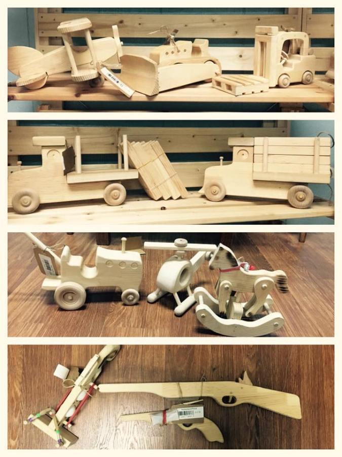 schmucker's amish general store - wooden toys