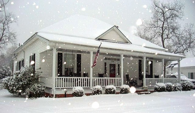 dexe house in snow - extra pixels
