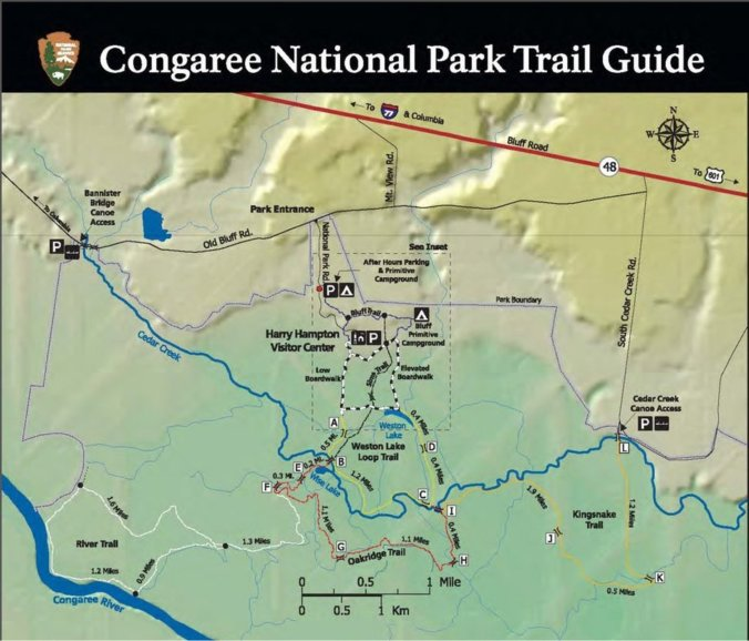 congaree trail guide